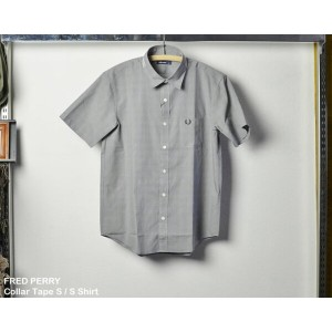 [ FRED PERRY ] カラーテープ半袖シャツ / Collar Tape S / S Shirt