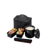 Tiger LWY-E036 Thermal Lunch Box, Black [並行輸入品]