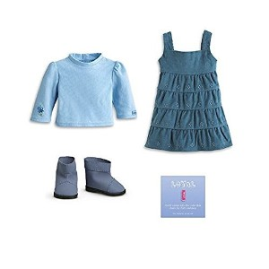 """American Doll Clothes 18 Inch Doll Outfit 2 Pc. Set, Fits 18"""" American Girl Dolls & More (Shoes Sold Separately) Stylish Pink and Gray Stripe Dress/Hoodie & Pink Leggings..."""