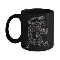 Chinese Dragon Tattooホワイト – Mug