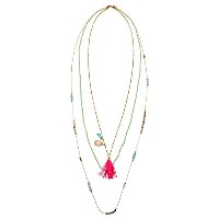 delicate Multirow Layered Necklace In Gold |ペンダントネックレス貝とタッセルニッケルフリー