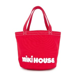 Miki House ロゴトートバッグ - レッド