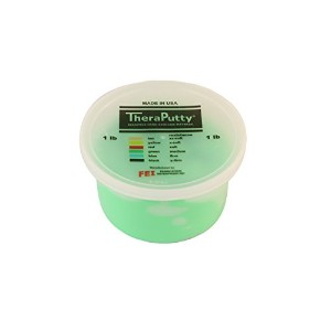 CanDo? Antimicrobial Theraputty? Exercise Material - 1 lb - Green - Medium