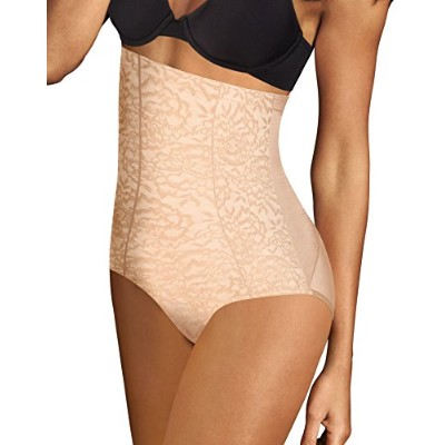 Maidenform 90563632268 Sexy Lace Firm Control Hi Waist Brief Y4T, Extra Large