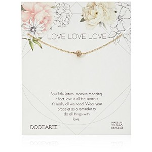 Dogeared Love Pave Sparkleボールブレスレット one_size