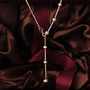 One&Only Jewellery 2.8g k18 ピンクゴールド Y字 ネックレス 18金 刻印あり