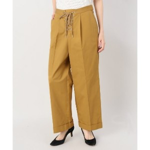 G.V.G.V twill laceup cropped trousers【ジョイントワークス/JOINT WORKS レディス その他(パンツ) イエロー ルミネ LUMINE】