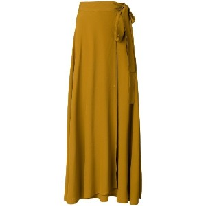 Veronique Leroy wrap tie midi skirt - イエロー&オレンジ