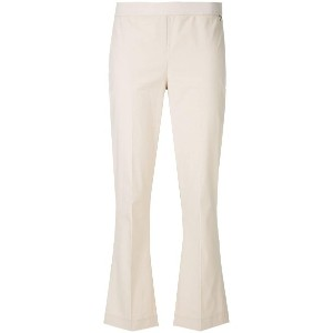Twin-Set flared cropped trousers - ブラウン