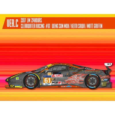 フェラーリ488 GTE 2017 LM 24hours Clearwater Racing#61【MFH 1/24 K645 Ver.C】