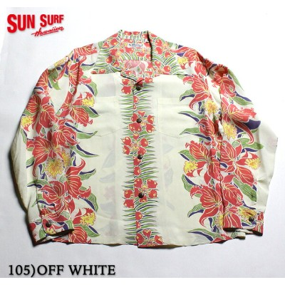 """SUN SURF サンサーフ アロハシャツRAYON L/S""""CATTLEYA ORCHID""""Style No.SS27762"""
