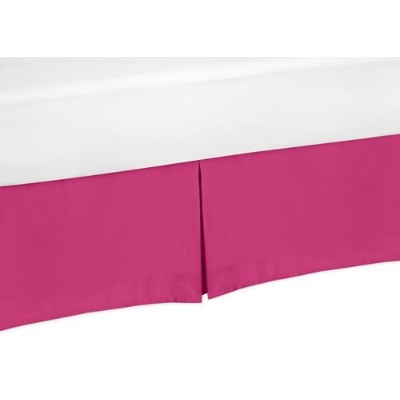 Pink Queen Bed Skirt for Hot Pink and White Chevron Bedding Set Collection by Sweet Jojo Designs