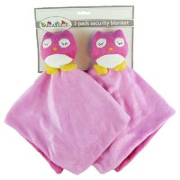 Plush Animal Security Blankets (Pink Owls) by Sumersault