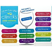 Clingks 12Drink Markers–New Year 's anti-resolutions–New Year 's Party Favors