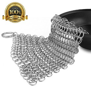 Cast Iron cleaner-stainlessスチールChainmail Scrubber–プレミアム錆防止316ステンレススチールCleaner for Cast Iron...