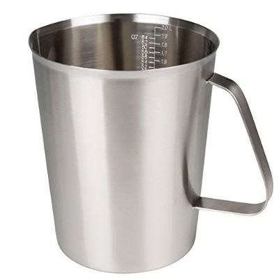 (2000ml) - Sissiangle 18/10 Stainless Steel Measuring Cup,Frothing Pitcher with Marking with Handle...