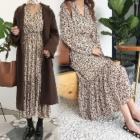 [Coco Blanc] Long dress with linen ship from korea fashion style