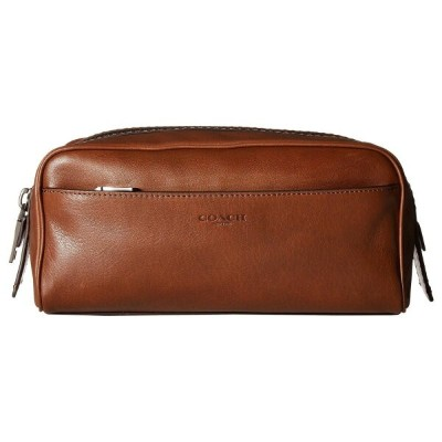 コーチ メンズ ポーチ【Dopp Kit in Sport Calf】Dark Saddle