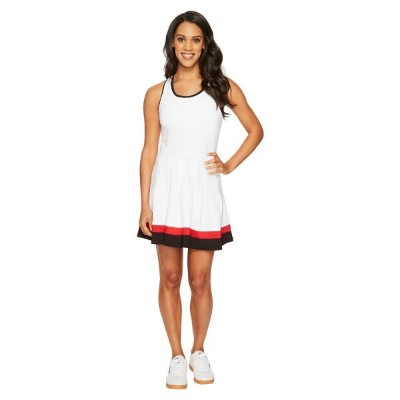 フィラ レディース テニス トップス【Heritage Tennis Racerback Dress】White/Black/Crimson