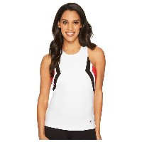 フィラ レディース テニス トップス【Heritage Tennis Halter Tank Top】White/Crimson/Black