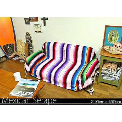 RUG&PIECE Mexican Serape made in mexcico ネイティブ メキシカン サラペ メキシコ製 210cm×150cm (rug-6040)