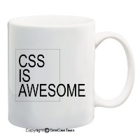 CSS Is Awesome–コーヒーorティーカップ11/ 15oz Mug by BeeGeeTees 02432 15 oz 02432