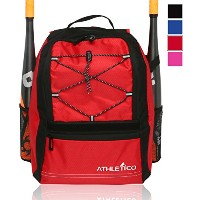 Athletico Youth Baseball Bat Bag – バックパックfor野球、ソフトボールティーボール&機器& Gear for Boys & Girls | Holds Bat...