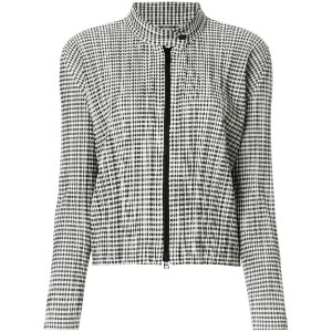 Pleats Please By Issey Miyake checked plissé jacket - グレー