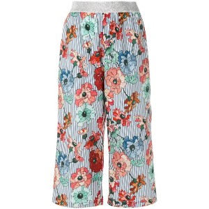 I'M Isola Marras floral print cropped trousers - ブルー