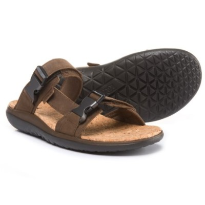(取寄)テバ メンズ Terra-Floatスライド ラックス サンダル Teva Men's Terra-Float Slide Lux Sandals Dark Earth