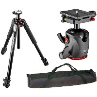 Manfrotto MT055XPRO3 055 アルミニウム 3-Section Tripod with Horizontal Column w/ MHXPRO-BHQ6 XPRO Ball...