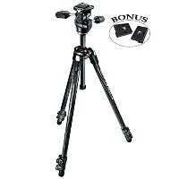 Manfrotto 327RC2 Light Grip Joystick Tripod Ball Head with Two リプレイスメント クイック リリース プレート for the RC2...