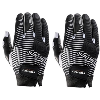 Two (2) HEAD Ballistic CT コッパー テク Racquetball Glove Right ラージ (海外取寄せ品)