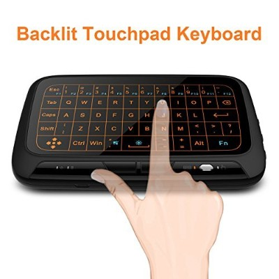 Mitid Backlit Touchpad Mini Wireless Keyboard With Full Screen Touchpad for Computer, TV Boxes,...