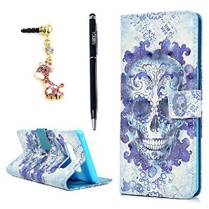 Note 8 Case YOKIRIN 3D Relief Premium PU Leather 2-in-1 Protective Folio Flip Wallet Case with...