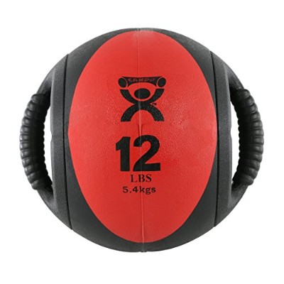 Cando Rubber Medicine Ball With Handles 5 kg Red (並行輸入品)