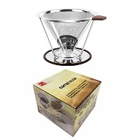 UのみYouコーヒーフィルタ、ステンレススチールpour Over Coffee Dripper with個別スタンド–Double Layeredフィルタ、Better Tasting、NO...