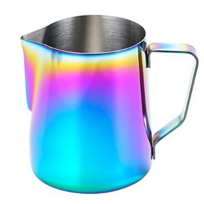 Milk Frothing Pitcher–wehomeステンレススチールコーヒーMilk Frothing Pitcher Creamer Frothing Cup forエスプレッソカプチーノ...