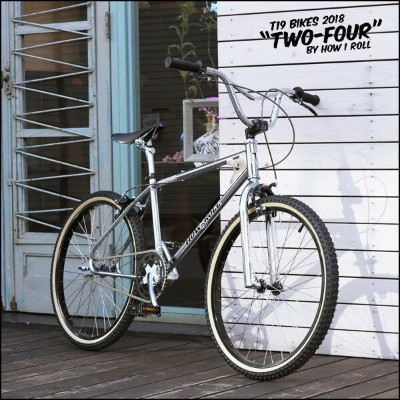 "【10%OFF】T19×HOW I ROLL ""TWO FOUR"" 24インチ オールドBMX CHROME 自転車"