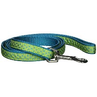 Pet Pals ZA8212 44 70 ESC Polka Dot Lead 4 Ft x .62 In Parrot Green P