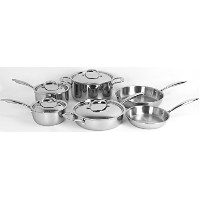 Oneida 10pc Stainless Steel Induction Ready Tri-ply Cookware Set. Dishwasher Safe by Oneida