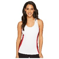 フィラ レディース テニス トップス【Heritage Tennis Racerback Tank Top】White/Black/Crimson