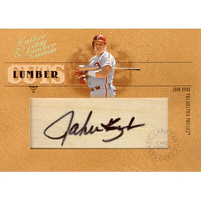 【ジョン・クラシック】MLB 2005 Donruss Leather & Lumber Signatures Lumber Cuts 128枚限定!(060/128)/John Kruk