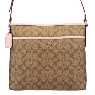 COACH OUTLET コーチ アウトレット ショルダーバッグ レディース カーキ/ピンク F58297 SVN3X
