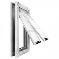 Endura Flap Small Door Mount - White Double Flap 15.2cm x 25.4cm pet door
