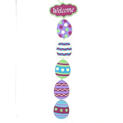 Glittery Easter EggテーマHanging Welcome Sign