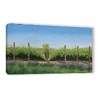 ArtWall Julie Peterson 'sラベンダーin the VineyardギャラリーWrappedキャンバス印刷 12x24 3pet010a1224w