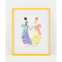 sisters are just different dresses from the same closet(blue & yellow) 【三越・伊勢丹/公式】 アート~~絵画~~版画