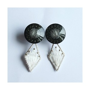patterie  LILY BUTTON EARRING(PR17SS-AC-P001191-E) black 【三越・伊勢丹/公式】 アクセサリー~~イヤリング
