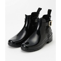 HUNTER/ハンター  レインブーツ REFINED GLOSS QUILTED CHELSEA(WFS1032RGL) BLK 【三越・伊勢丹/公式】 靴~~レディースシューズ~~レインシューズ
